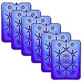 NEMT 6X Flacher Kühlakku 800 ml Kühlakkus 25 x 32,5 x 1,5 cm Kühlelemente Kühltasche Kühlbox