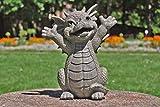 MC Gartenfigur Gartendrache - Modell Hallo klein - Fantasy Figur Deko Drache Gartendeko