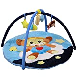 Sanqing Karikatur-AFFE-Baby-Turnhalle. Infant Fitness Playmat Multifunktions-Baby Playmat Play Gym Abnehmbare Spielzeuge (Cartoon AFFE),Blue