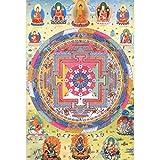 Puzzle House- Mandala del Budismo Tibetano, Rompecabezas de Thangka de Madera, Pintura artística, Corte y Ajuste, 520 Piezas en Caja Juego de Juguetes de Juguetes para Adultos -0419