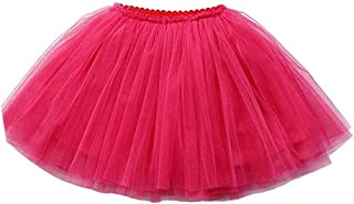wexcen Girl's Tutu Skirt with Lining 3 Layers Tulle Dress Up Dance Party for 2-9T