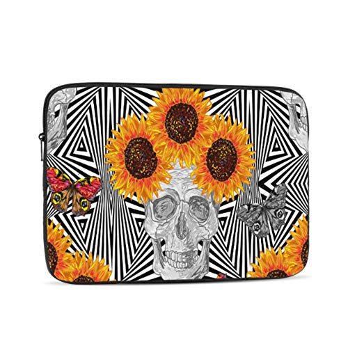 A1707 MacBook Pro Case Boho Sugar Skull Butterfly Flower Sunflower Cover MacBook Air 13 Multi-Color & Size Choices 10/12/13/15/17 Inch Computer Tablet Briefcase Carrying Bag