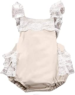 WUFAN Little Girl Princess Cami Black Dress Romper Bodysuit Jumpsuit