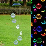 ARB MARKET Solar Color Changing Led Shell Wind Chimes Home Garden Yard Decor Light Lamp | Pandawill Color Changing Solar Powered Glass Ball Led Garden Lights