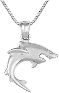 SURANO DESIGN JEWELRY Sterling Silver Shark Charm/Pendant, Made in USA, 18