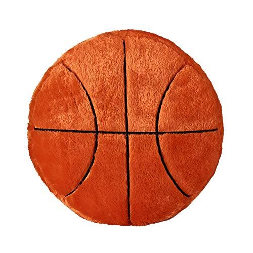 JYCRA Plüschkissen, flauschig gefüllt, Sportball, Rückenkissen, weich, langlebig, Sport-Spielzeug Geschenk für Kinder Zuhause Sofa Dekor, Plüsch, Basketball, 45 cm