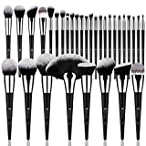 DUcare Makeup Brush Set 32Pcs Professional Makeup Brushes Premium Synthetic Kabuki Foundation Blending Brush Face Powder Blush Concealers Eye Shadows