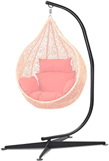 go2buy Heavy Duty Swing Chair Stand,Hammock C Stand-Bigger Base, Black(Stand Only)