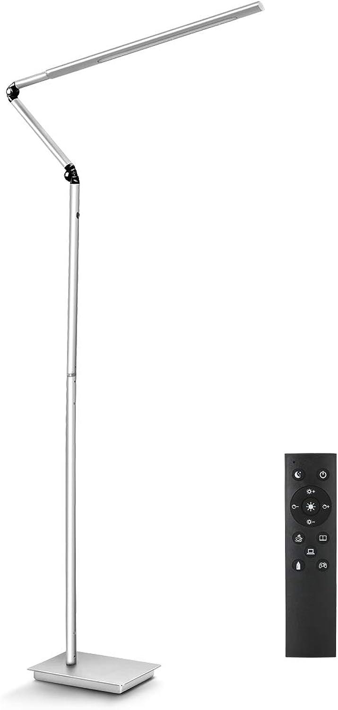 HaloOptronics Polaris0565 ComboPro LED Stehleuchte 13,5W entspricht 135W Touch Control & Fernbedienung Farbe und Helligkeit Dimmbare Wohnzimmer Lampe Leselampe Design Lampe Alles Aluminium Rotary360°