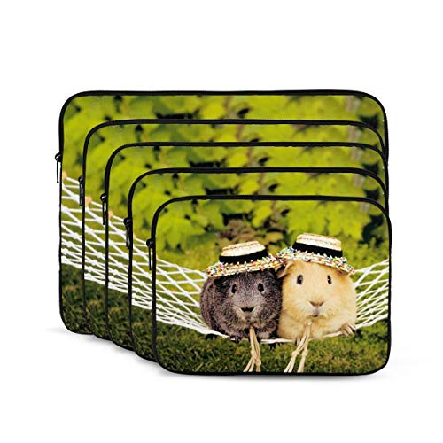 Hamster Guinea Pig Laptop Sleeve 13 inch, Shock Resistant Notebook Briefcase, Computer Protective Bag, Tablet Carrying Case for MacBook Pro/MacBook Air/Asus/Dell/Lenovo/Hp/Samsung/Sony