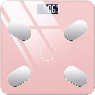 QAZWSX Báscula de baño, Escala electrónica compacta, Escala de Peso, Sistema métrico, Pantalla Digital fácil de Leer, Cocina para Adultos de precisión de Cocina de Cocina,Rosado