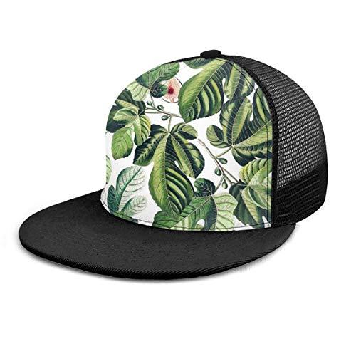 Generic Baseballmütze Feigenblatt Garten Feigenblätter Baseballmütze Trucker Mütze Summer Sun Sports Outdoor Snapback Hats Black