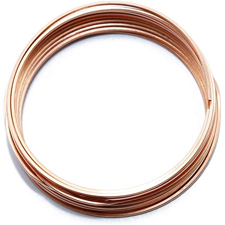 Solid Bare Copper Wire Square 14 Gauge Bright Dead Soft Choose 14 to 22 ga. 25 Feet