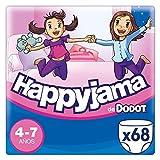 Dodot HappyJama - Pañales niña 4-7 años, 68 Unidades, 17kg - 29kg