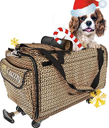 DADYPET Pet Carrier Airline Approved, Soft-Sided Expandable Collapsible Portable Travel Carrier with Wool Rugs for Puppy Dogs Cats