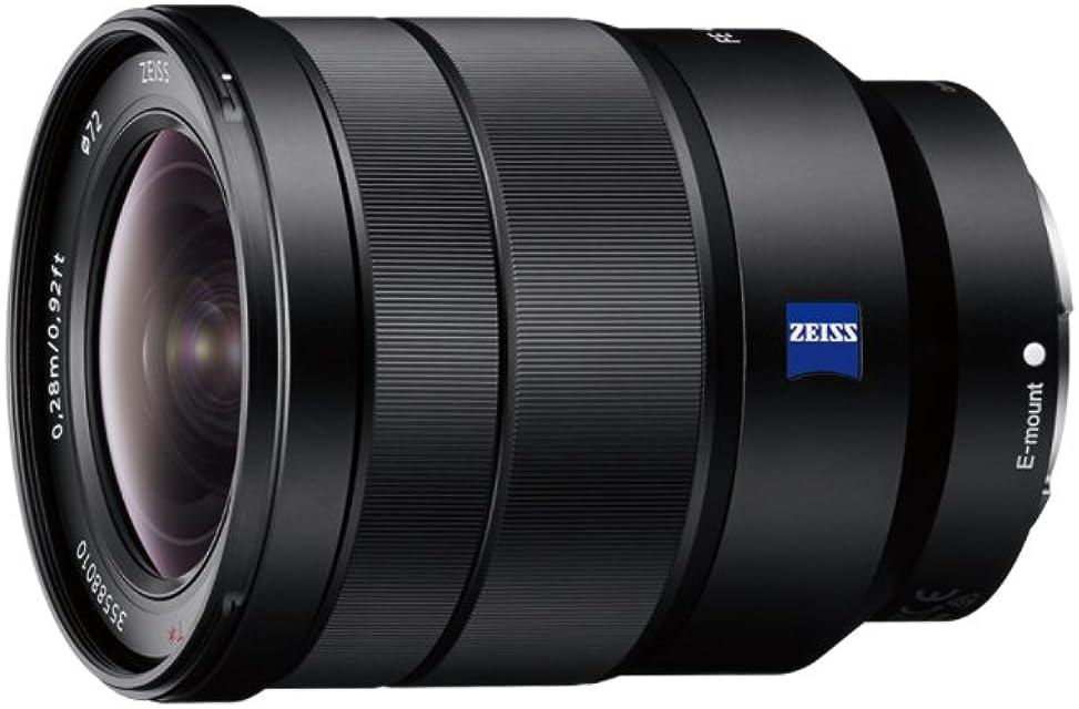 Sony SEL1635Z - Objetivo para Sony/Minolta (Distancia Focal 16-35mm Apertura f/4-22 Zoom óptico 0.19xestabilizador óptico diámetro: 72mm) Negro