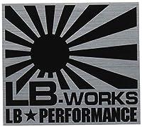 【Liberty Walk(リバティーウォーク)】ステッカー LB-WORKS small Black/Silver ST9-BS