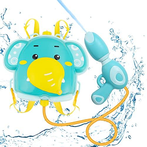Ulikey Pistola de Agua de Mochila, Pistola de Agua de Juguete Pistola de Agua para Niños Pistola de Agua de Verano Capacidad de 1000 ml Alcance Largo Rango de 5-8 M para Batalla de Agua