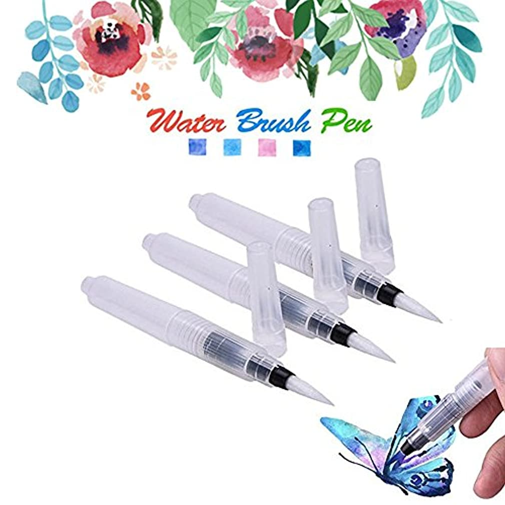 MAZU 3-Piece Leak Proof Water Coloring Brush Pen Set - Refillable, Watercolor, Calligraphy, Painting,Water-soluble Pencils,Arts Markers,Solid Colors or Powdered Pigment D-4