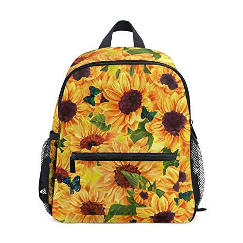 Cpyang, zaino per bambini con fiori e girasoli e farfalle, per scuola materna, per bambini e bambine
