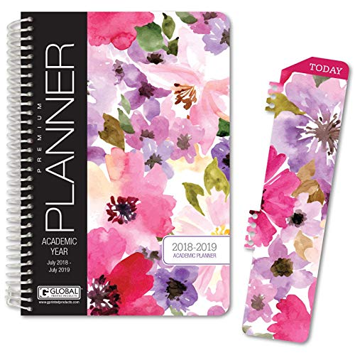 Best Planner 2018 Agenda for Productivity, Durability and Style. 5x8 Daily Planner/Weekly Planner/Monthly Planner/Yearly Agenda. HARDCOVER Organizer with Bookmark and Journal (Spring Floral)