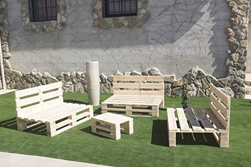 Conjunto 3 Sofas PALETS Europeo Mesa, Interior/Exterior Nuevo A ESTRENAR,AL Natural