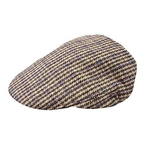 TOSKATOK® Mens Tweed Flat Caps-Sand-SM
