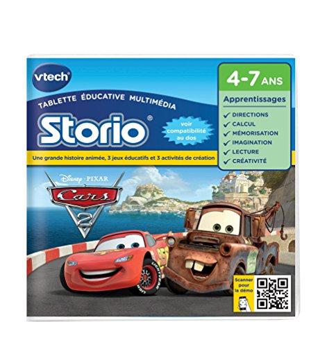 Vtech - 230105 - Storio 2 et générations suivantes - Jeu éducatif - Cars 2 - Version FR