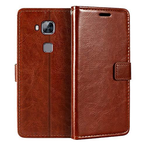 Huawei Ascend G8 - Funda tipo cartera para Huawei GX8 (piel sintética, cierre magnético, tarjetero, función atril)