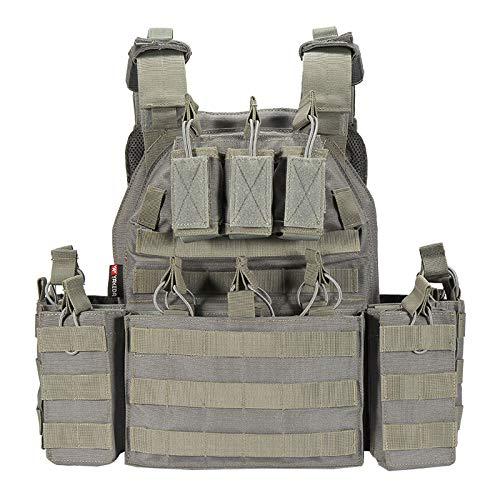 SryWj Gilet Tactique de Camouflage Multifonctionnel, Uniforme de Combat léger Amovible en Nylon 1000D, imperméable, Respirant et résistant à l'usure, adapté à la Formation de l'armée de Campagne