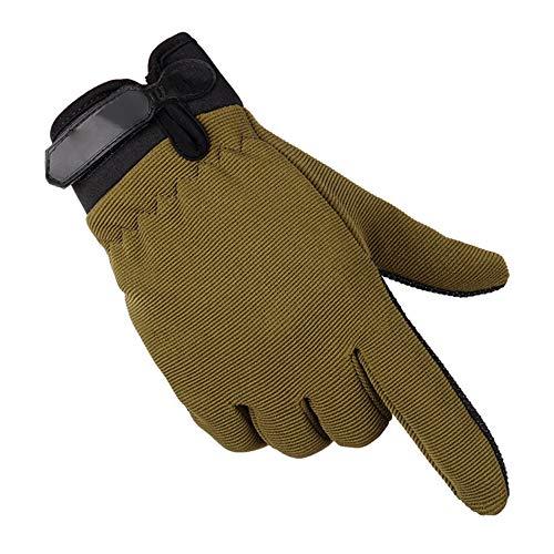ZQDM Guantes tácticos Deportivos para Hombres, Ejército sin Dedos Ligero Ligero Transpirable Transpirable Femenino Finger No-Slip,Army Green,M