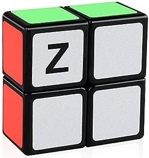 D-FantiX Z Cube 2x2x1 Speed Cube, 1x2x2 Magic Cube Puzzle Black