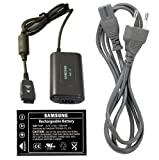 Samsung SLB-1137 Lithium-Ion Rechargeable Battery & Charger Kit for Digimax U-CA 3, U-CA 4, U-CA 505, U-CA 5, V600, and V700 Cameras