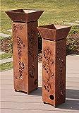 Fuoco pilastri Set, ferro pilastri, huwi pilastri, ciotole fuoco Designer