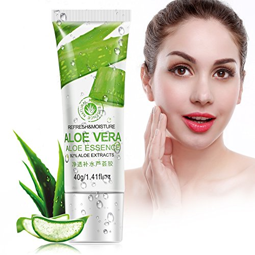 Naroote Gel de aloe vera, crema facial hidratante para el cuidado de la piel con ácido hialurónico
