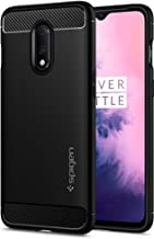 Spigen, Rugged Armor, Patent Design Flexible Black TPU Case Cover for OnePlus 7 - Matte Black