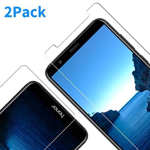 [2 Stück Panzerglas Schutzfolie kompatibel mit Huawei Honor 7X, 9H Härte, Anti-Kratzen, Anti-Öl, Anti-Bläschen Displayschutzfolie für Huawei Honor 7X