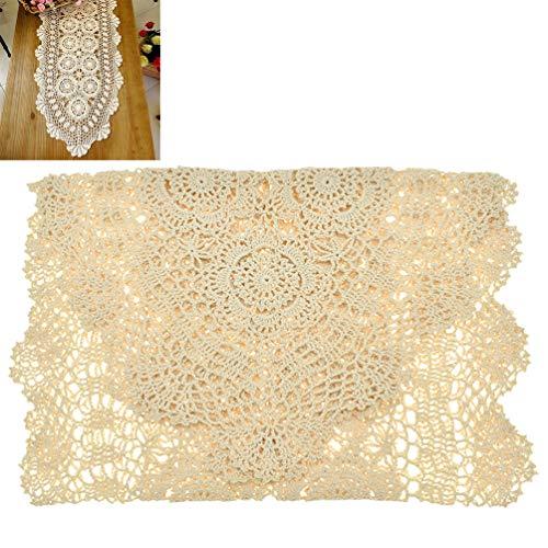Kesheng Mantel de Ganchillo de algodón, manteles Individuales...