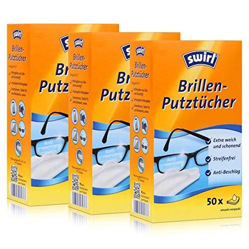 3x Swirl Brillen Putztücher 50 stk. Tücher