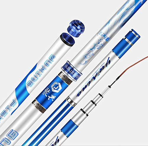Hayandy Carbon-Angelrute super hart und superleichte handgemachte Angeln 19 Abstimmung Spiel Angelrute Angelgerät-6.3 m (Size : 3.6 m)