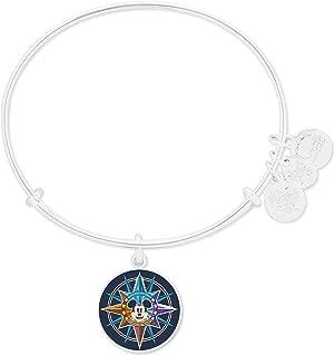 Alex and Ani Disney Mickey Mouse Compass Passport Bangle Bracelet Silver