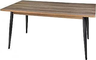 Fornord Table Salle à Manger en Bois et Métal Noir- 160x90cm