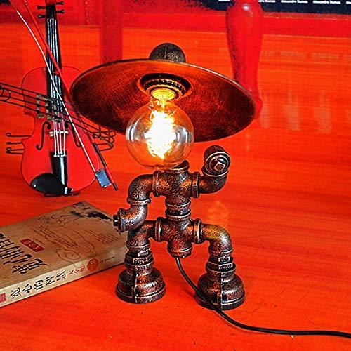 XFSE Lámpara de Mesa Hierro Arte Lámpara De Mesa De Robot Altillo Personalidad Tubería De Agua De Escritura Creativa Lámpara del Café Escritorio Barra De La Lámpara De Mesa Decoración Retro 24