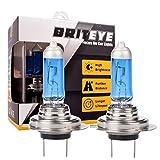 Briteye(まぶしい) 車用 ヘッドライト H7 ハロゲンバルブ 5500K 暖かい白 ホワイト 高効率 55W 【車検対応】(2個入り)