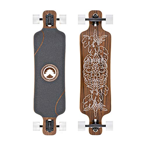 Black Longboards Collection | Longboard Skateboard Complete | Exotic Wood