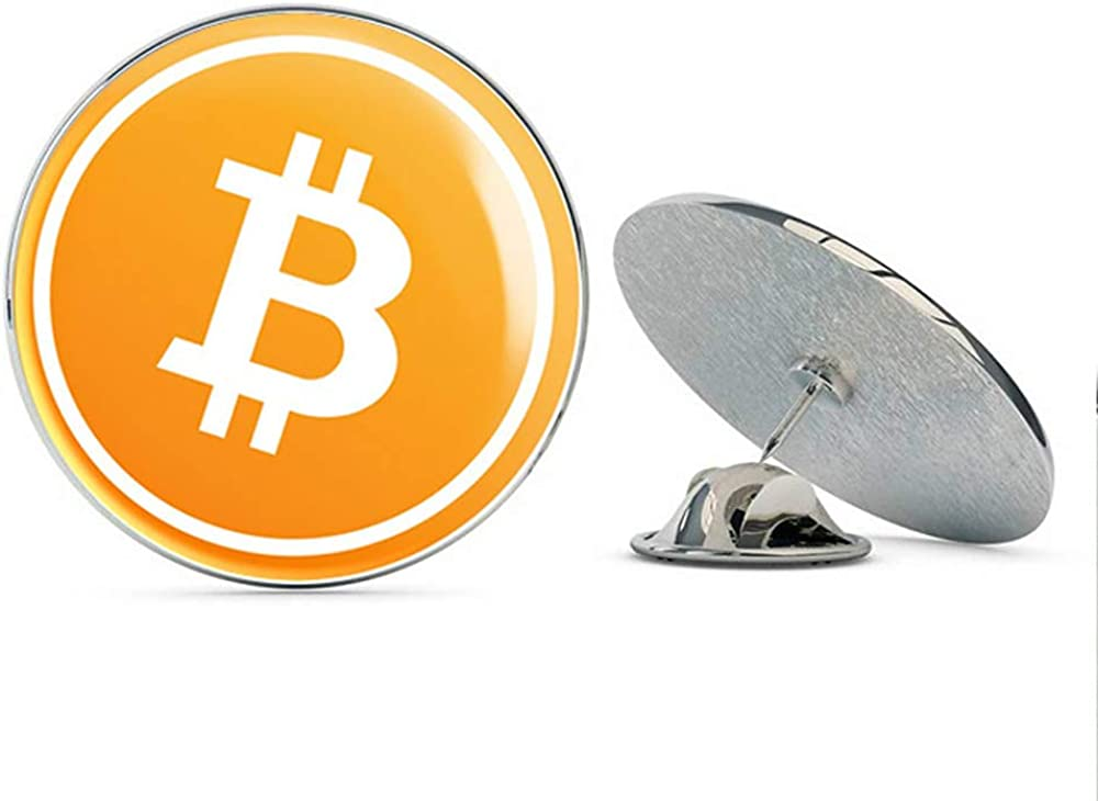 BRK Studio Cool Interesting Internet Currency Bitcoin Cartoon #1 - One Coin Round Metal 0.75