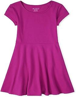 The Children's Place girls Short Sleeve Basic Dress Dress