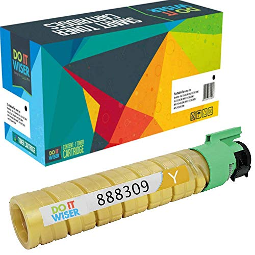 Do it Wiser Compatible Toner Cartridge Replacement for Ricoh Aficio SP C410DN SP C411DN SP C420DN | 888309 (15,000 Pages Yellow)