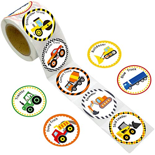 Truck Stickers for Kids 200PCS Perforated Roll Construction Sticker Car Home Family Birthday Party
