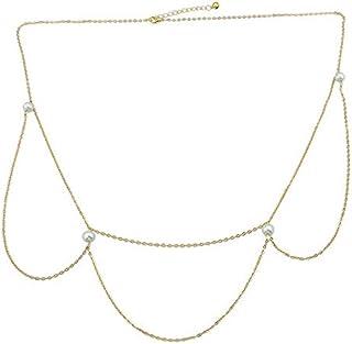 Summer Trendy Gold Bikini Belly Body Waist Link 3 Layer Chain